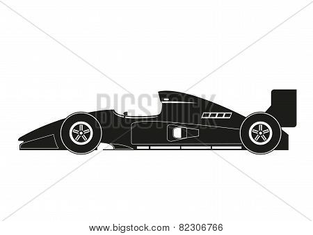 The history of a race car. vector illustration