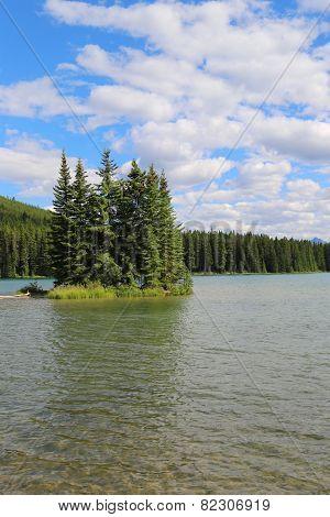 Mountain lake in Alberta, Canada