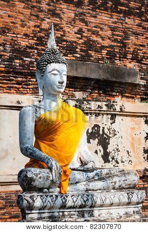 Buddha Of Statue In Ayutthaya Thailand
