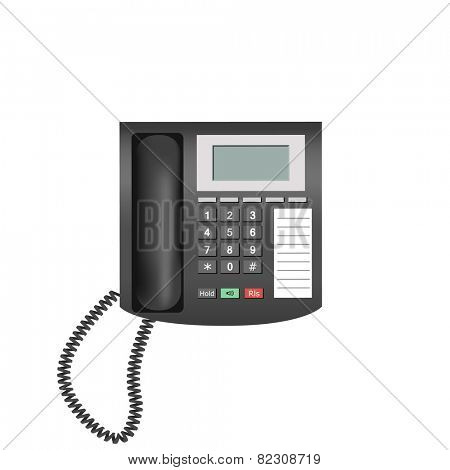 Detailed telephone isolated on white background for e-business, web sites, mobile applications, banners, corporate brochures, book covers, layouts etc. Vector eps10 illustration