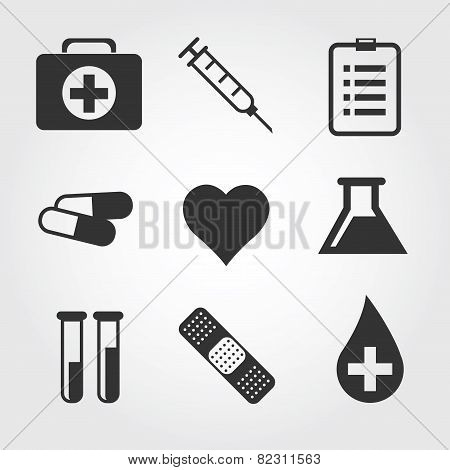 Medical icon, flat design