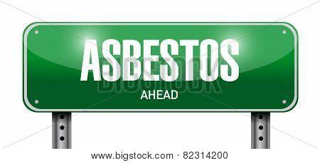 Asbestos Road Sign Illustration Design