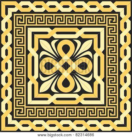 vector gold pattern of interlacing lines