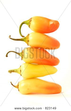Stacked Chili Peppers