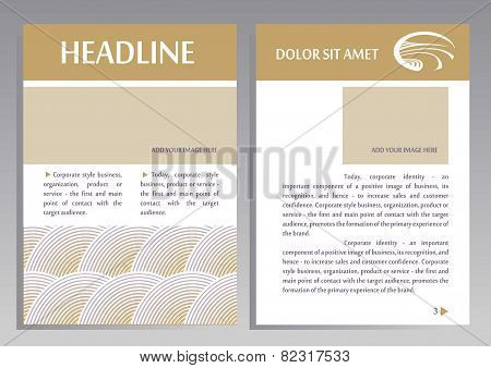 Brochure Flyer design vector template in A4 size. Layout for catalogs, brochures. Pattern, logo for