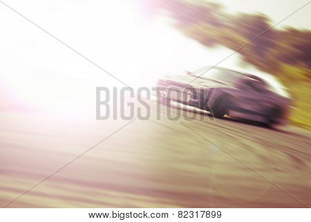 Very Fast Driving, Motion Blur Drift
