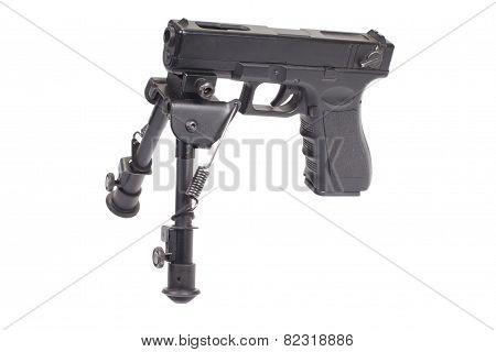 Firearm On Bipod