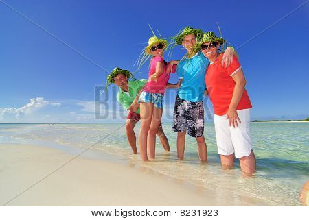 Family on the island