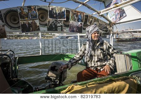 River Taxi on the River Nile, Cairo