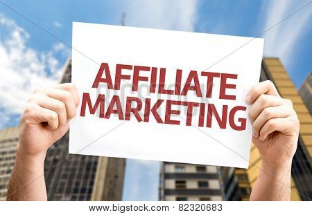 Affiliate Marketing card with a urban background