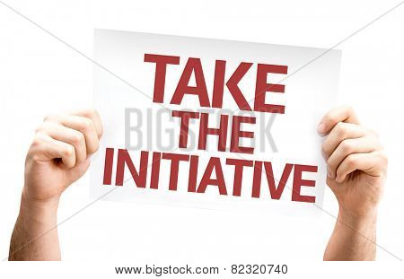 Take the Initiative card isolated on white background