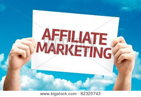 Affiliate Marketing card with sky background