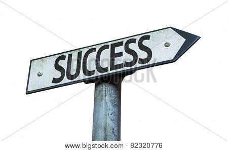 Success sign isolated on white background