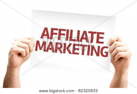 Affiliate Marketing card isolated on white background
