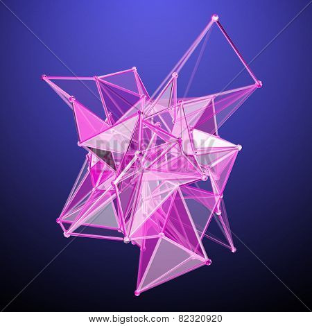 3D Polygonal Abstract Design