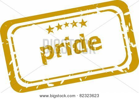 Pride Stamp Isolated On White Background