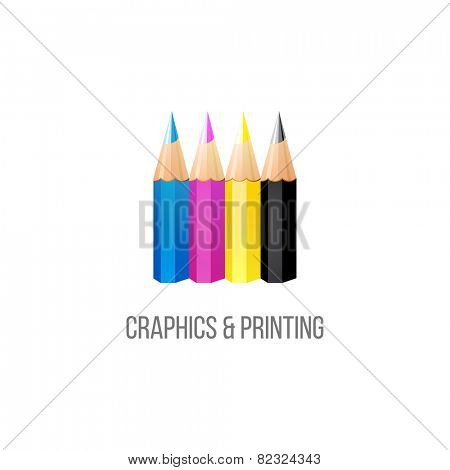 CMYK logo template on white background