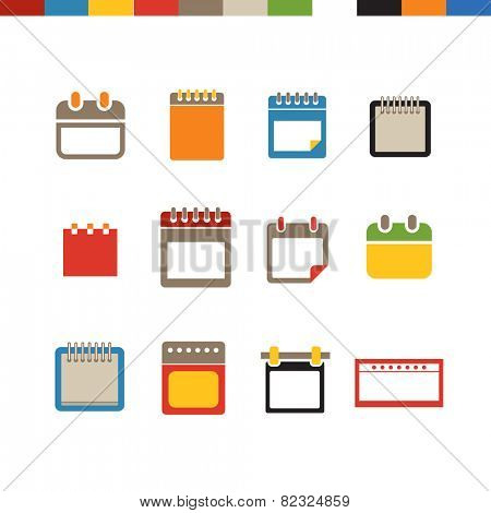 Different calendar web icons collection