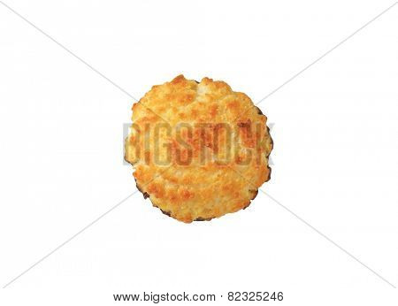 Coconut Macaroon isolated on white