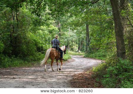 Man Horseback Riding