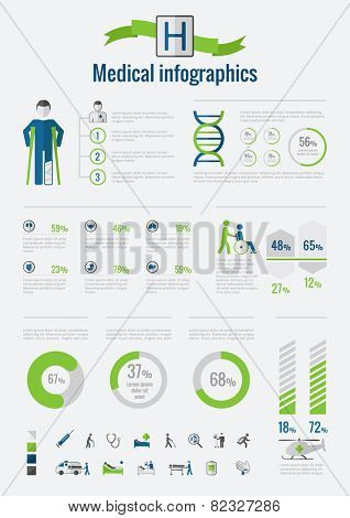 Disability Infographic Elements.
