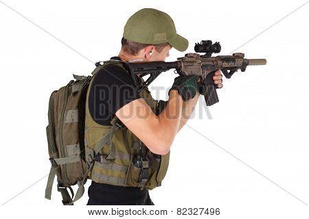 Mercenary With M4 Rifle