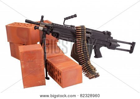 M249 Machine Gun On Position