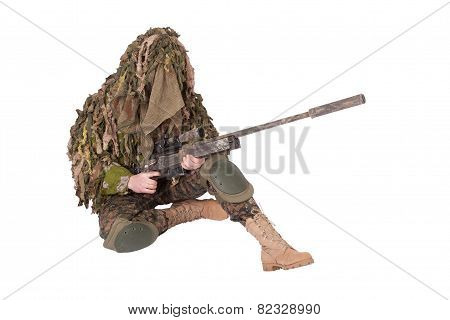 Sniper In Ghillie Suit