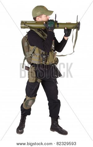 Mercenary With Bazooka Gun