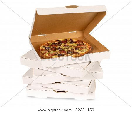 Pizza In Plain White Box