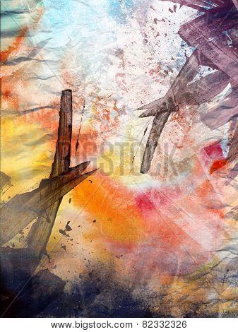 Art grunge- vintage textured abstract background