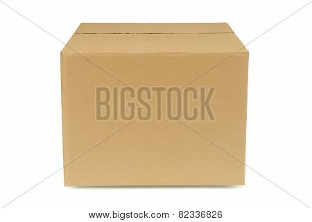 Plain Brown Cardboard Box