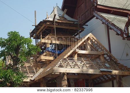 Timber Framing new Temple Entrance.