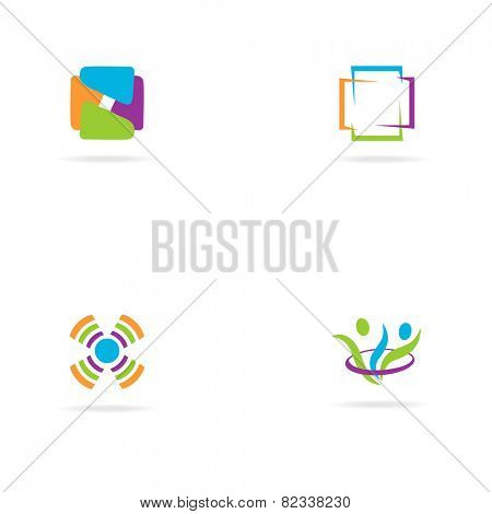 Abstract bright colors  logo  - Vector Illustration, easy editable for your design. Business Logo