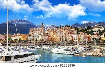 Menton - beautiful town in south of France