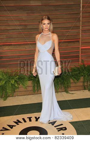 WEST HOLLYWOOD - MAR 2:: Rosie Huntington-Whiteley at the 2014 Vanity Fair Oscar Party on March 2, 2014 in West Hollywood, California