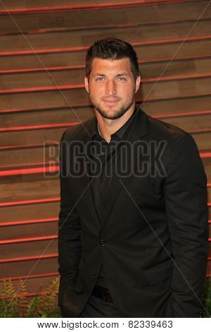 WEST HOLLYWOOD - MAR 2:: Tim Tebow at the 2014 Vanity Fair Oscar Party on March 2, 2014 in West Hollywood, California