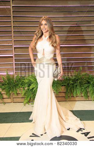 WEST HOLLYWOOD - MAR 2:: Sofia Vergara at the 2014 Vanity Fair Oscar Party on March 2, 2014 in West Hollywood, California