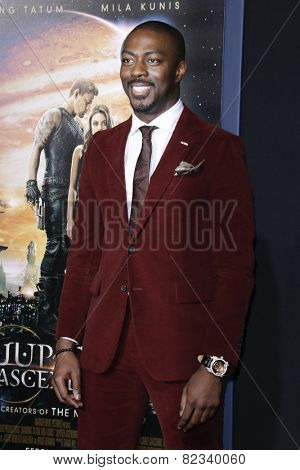 LOS ANGELES - FEB 2: David Ajala at the 'Jupiter Ascending' Los Angeles Premiere at TCL Chinese Theater on February 2, 2015 in Hollywood, Los Angeles, California