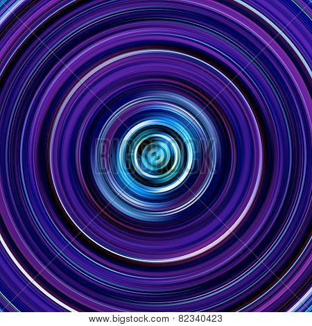 Purple and blue graduated color circles illustration.