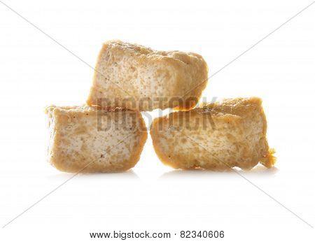 Bean Curd Tofu Over White Background