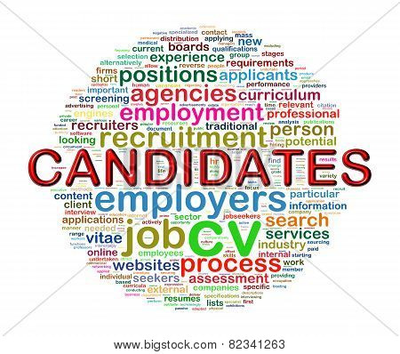Word Tags Circular Wordcloud Of Candidate