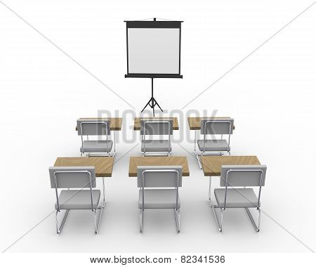 3D Empty Conference Room
