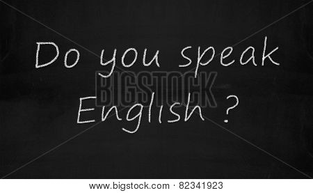 Chalkboard Do You Speak English