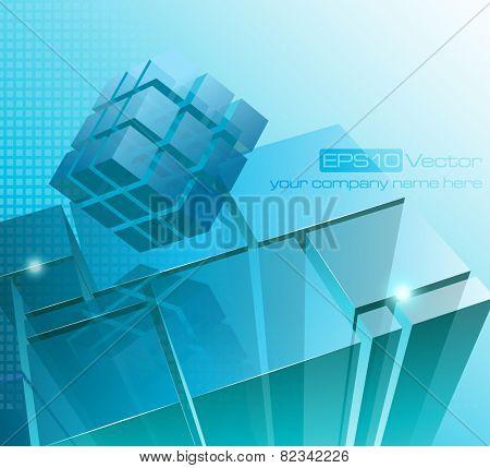 Tech business design composition. Vector illustration