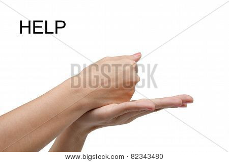 Woman Hand  Sign Help Asl American Sign Language