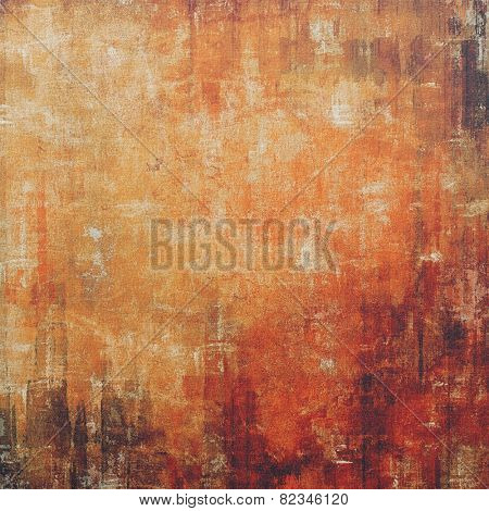 Retro background with old grunge texture. With different color patterns: yellow (beige); brown; black; red (orange)