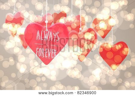 always and forever against light glowing dots design pattern