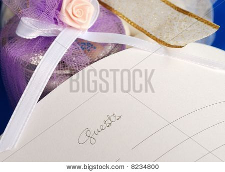 Sign the wedding guest book