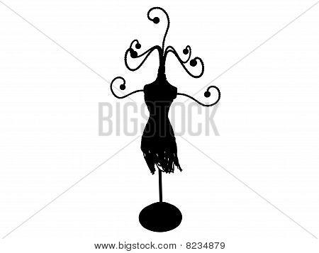 Jewellry Hanger In Silhouette